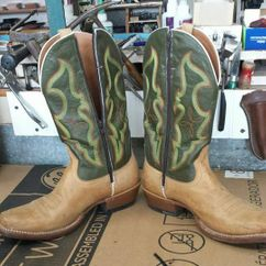Cowboy Boots-After Zippers Installed